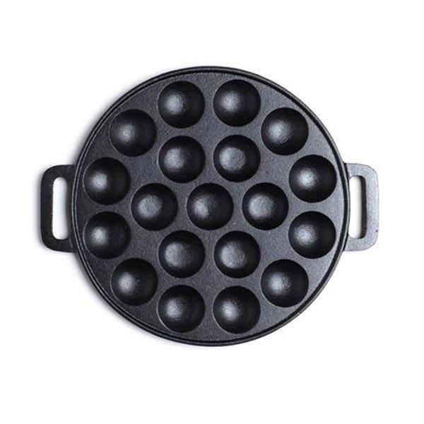 19 holes cast iron poffertjes pan