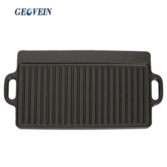 double sided cast iron griddle grill